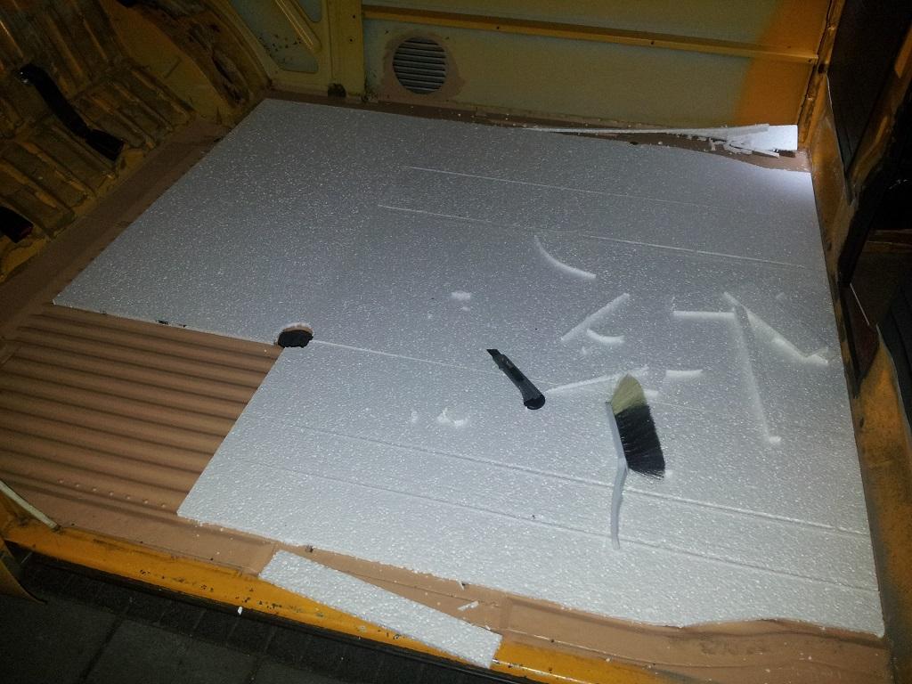 Vw t2b camper bus over het mooi maken van een t2b camper bus - Vloer roller ...